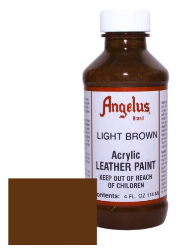 Light Brown Leather Finish (Angelus Acrylic Leather Paint-4oz.-Light Brown)