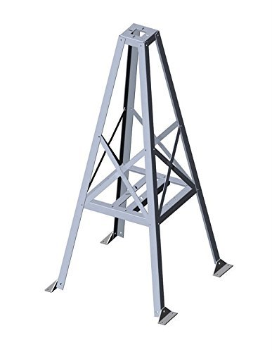 Glen Martin RT-424 4-1/2' Roof Top Tower - 4.5' Tall Aluminum Tower - USA Made by Glen Martin