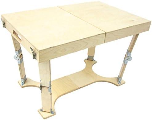 Spiderlegs Folding Coffee Table, 28-Inch, Natural Birch