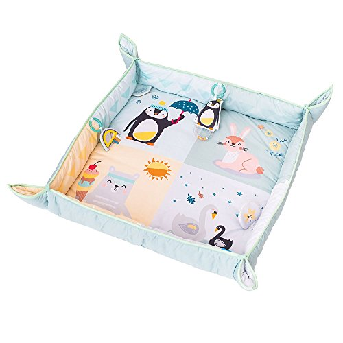 Taf Toys North Pole 4 Seasons Baby Activity Mat | with Raised Side Panels for Easier Development and Easier Parenting, Extra Padded, Soft, Cozy & Safe Fabric For Sale