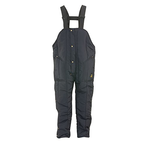 (RefrigiWear Men's Iron-Tuff Insulated High Bib Overalls -50F Extreme Cold Protection (Navy Blue, Medium Tall))