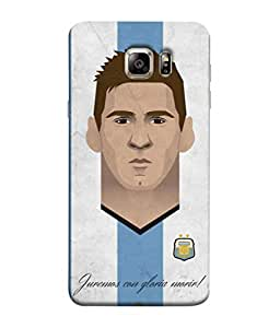ColorKing Football Messi Argentina 18 Multi Color shell case cover for Samsung S6 Edge Plus