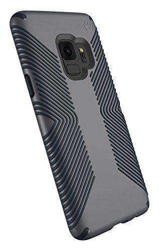 Charcoal Grey Bezel - Speck Presidio Grip Samsung Galaxy S9 Case, Graphite Grey/Charcoal Grey