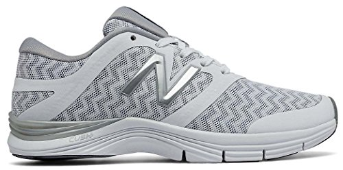 New Balance Women's WX711V2 Cross Trainer, White Silver/Zig Zag Graphic, 7 D US For Sale