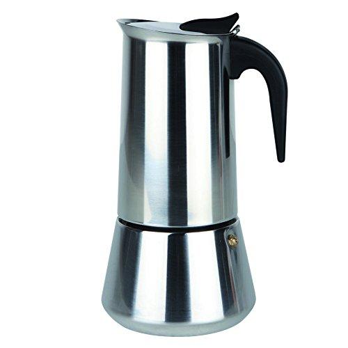 Orbegozo KFI 460 - Cafetera de acero inoxidable, 4 tazas