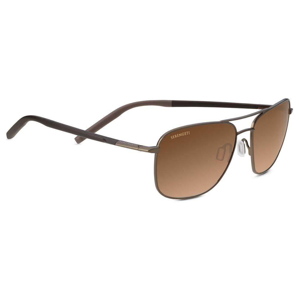 Serengeti Spello Sunglasses, Matte Espresso/Chocolate Brown Frame/Polarized Drivers Gradient Lens by Serengeti