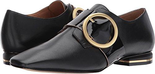 Calvin Klein Women's Bessy Black Smooth Calf/Soft Patent 8 M US - Black Soft Calf Footwear