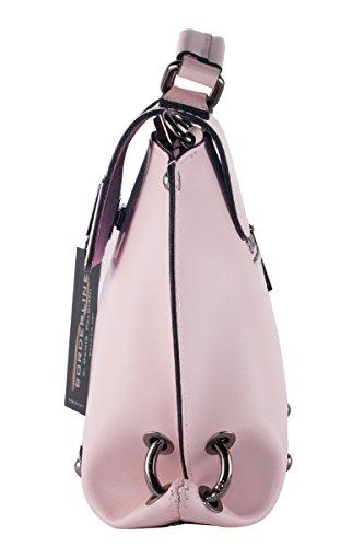 BORDERLINE - 100% Made in Italy - 100% Made in Italy - Mujer bolso de cuero genuino - EMMA Rosa