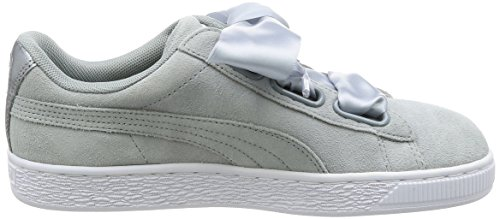 Puma quarry Basket Gris Suede Mode Quarry Femme Safari Heart pPapxqg