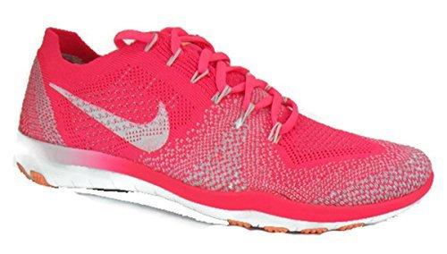 3cf46abff7b1b Nike Free Focus Flyknit 2 Women s Athletic Racer Pink White-Sunset Glow Size  8 M