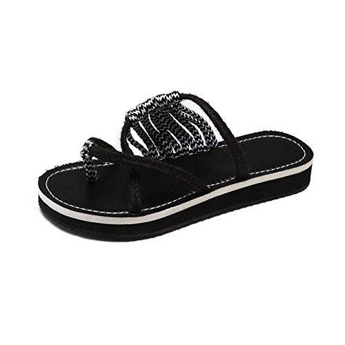 pantofole mano sacchetti a Thirty FONDO toed sandals eight PIATTO Donyyyy tessuta di le raffreddare qwxYPZRqaH