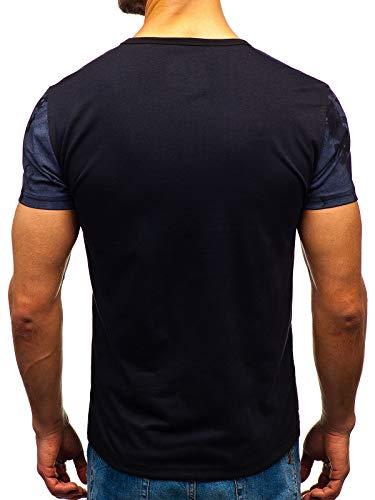T Courtes Col ss667 – 3c3 Manches Mode shirt Ombre Bolf Imprimé Noir Rond Homme RCx08q85