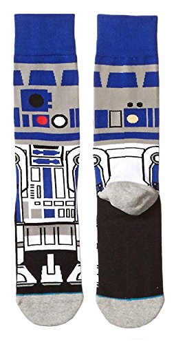 Star Wars R2d2 Droid Character 360 Crew Socks