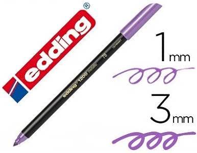 Edding - Rotulador punta fibra 1200 violeta metalizado n 78 punta redondo 0: Amazon.es: Oficina y papelería