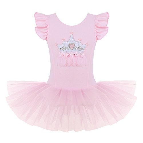 YiZYiF Baby Girl's Ballet Outfits Leotard Tutu Dancewear Party Dress (4-5(Shoulder to Crotch 18.5