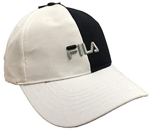 Fila Color Block Strapback Hat (Black/White, OSFA) (Blocks Hat)