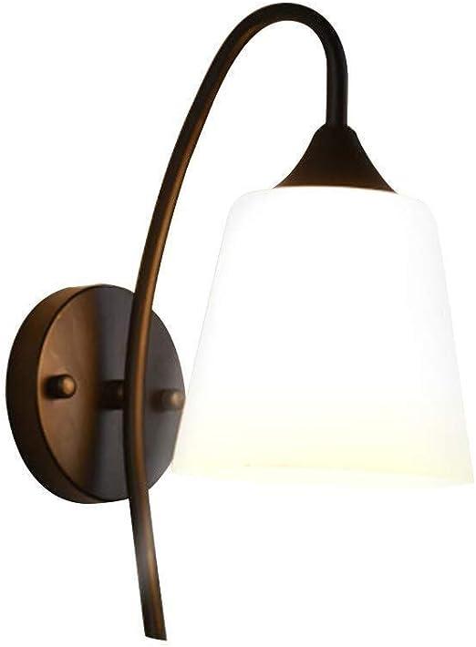 Bañadores de Pared Lámparas de Pared Vintage LED Dormitorio Lámpara de Noche Lámpara de Noche Escalera Pasillo Hotel Lámpara de Pared No Incluye Bombilla (Negro): Amazon.es: Hogar