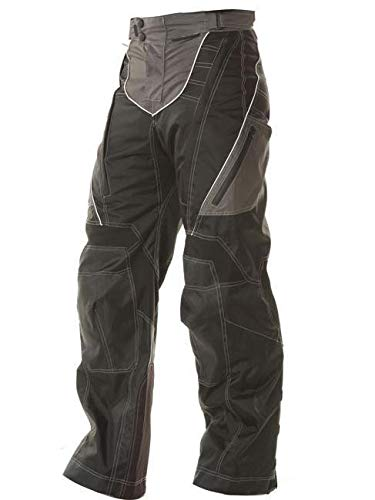 (Xelement B4402 Men's Black Advanced Level-3 Tri-Tex Fabric Motorcycle Pants - 38)