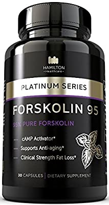 95% FORSKOLIN Amazing cAMP Activator - The Most Potent Supplement Available for Clinical Fat Loss and Anti Aging - 100% Natural and Unique Formula - Platinum Series By Hamilton Healthcare