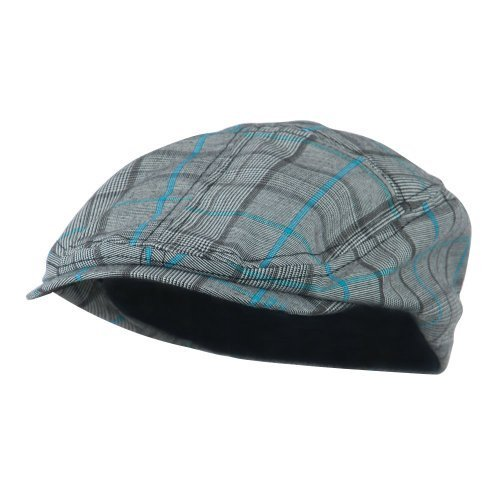 Scally Flat (MEGA CAP INC Ivy /Flat /Scally / Driving Caps (Blue Plaid, Size Medium) - 3373)