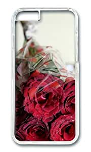 MOKSHOP Adorable bouquet roses romantic Hard Case Protective Shell Cell Phone Cover For Apple Iphone 6 Plus (5.5 Inch) - PC Transparent