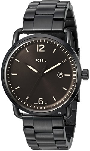 Fossil-Mens-FS5277-The-Commuter-Three-Hand-Date-Black-Stainless-Steel-Watch