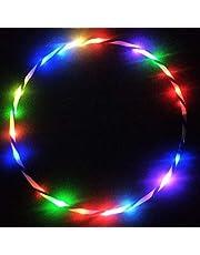 Artbro LED Hula Hoop Fiitness Peso Aro de Fitness para Niños Adultos 60/70/80/90cm