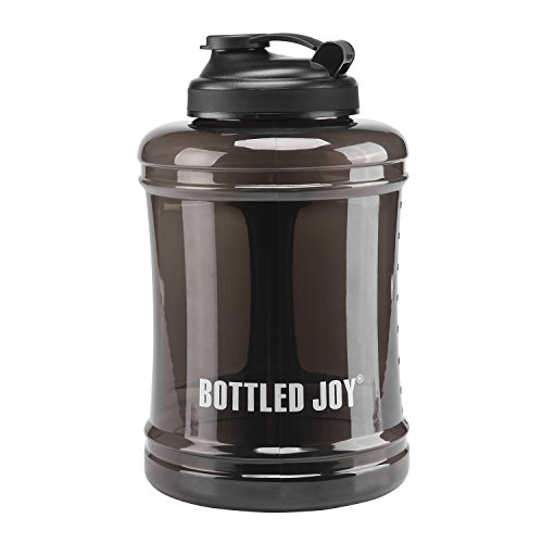 Water Bottle,BOTTLED JOY Large Water Jug BPA-Free Sport Water Bottle Leakproof Large Capacity And Durable For Women Men Fitness Camping Training Bicycle Hiking Gym Outdoor Sports 2.5L 83OZ (Black) by beyetori
