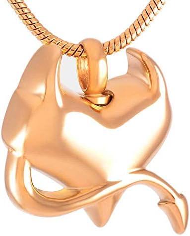 男性又は女性NEWSilverゴールドローズゴールド316LステンレスSteelNECKLACE灰記念品のための灰記念品ネックレスのペンダントチェーン記念壺ジュエリーのためのネックレスは、色の名前、rose_gold:ローズゴールド (Color : Rose gold)