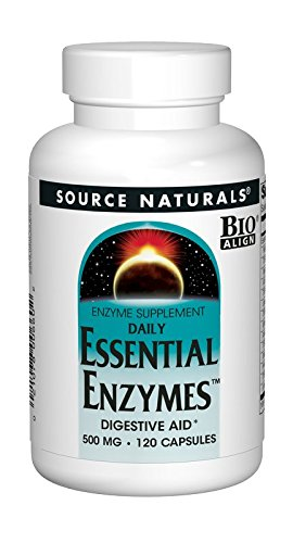Source Naturals Essential Enzymes 500mg Bio-Aligned Multiple Supplement Herbal Defense for Digestion, Gas & Constipation Relief & Daily Digestive Health - Strong Immune System Support - 120 Capsules (Best Immediate Constipation Relief)