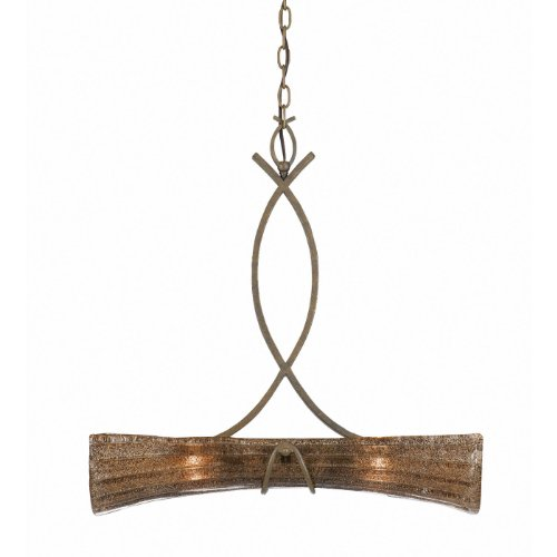 - Triarch 31532 2 Light Bali Large Pendant, Patina