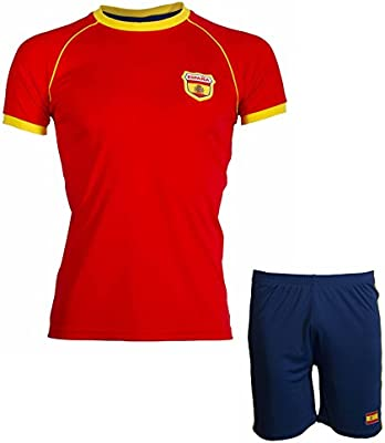 A chacun son Pays Short + Camiseta España – Collection Supporter – Talla Infantil, Rojo, 14 años: Amazon.es: Deportes y aire libre