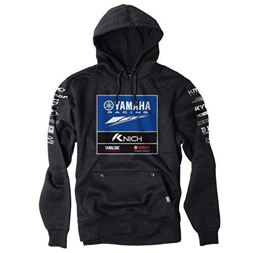 Yamaha Racing Team ATV Official Licensed Black Hoodie Pullover Fan Apparel Large (Yamaha Hoody Sweatshirt)