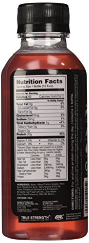 Optimum Nutrition Protein Water, Tropical Fruit Punch, 12 Count