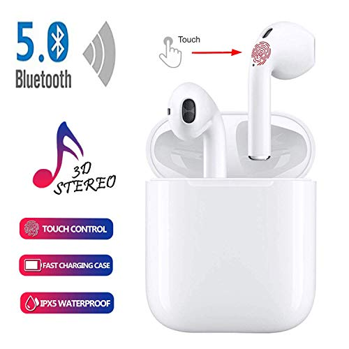 Bluetooth Headphones,Bluetooth 5.0 Wireless Earbuds,3D Stereo 24H Playtime Wireless Sports Headset,IPX5 Waterproof,Pop-ups Auto Pairing for Apple Airpods Android iPhone Samsung