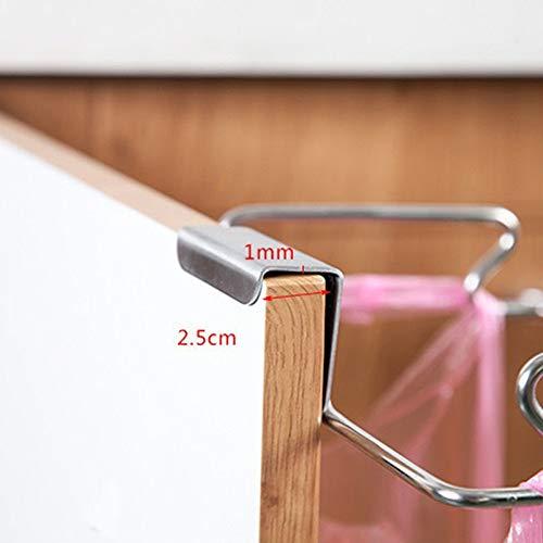 Gancio per immondizia porta posteriore Porta asciugamani in acciaio inossidabile Supporto per cestino per cucina Camera da letto Bagno