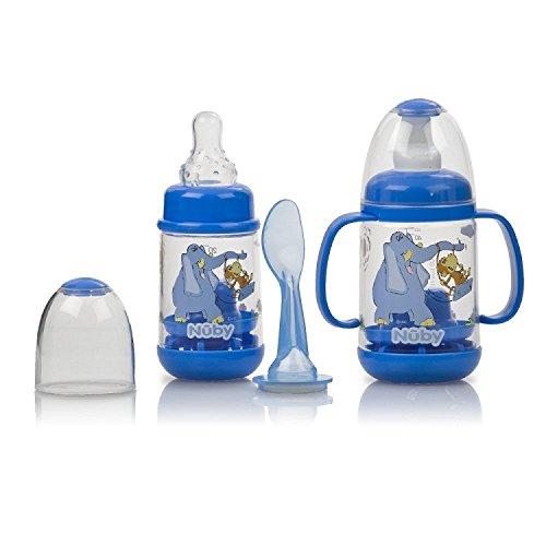 (Nuby 2 Pack Nurtur Care Infa Feeder Set, 4 Oz Infant Feeder BLUE)