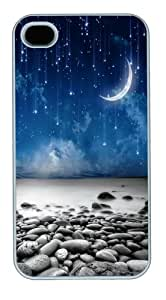 Apple Iphone 4S Case Customized Fallen Stars PC Case Cover for iPhone 4S and iPhone 4 - White