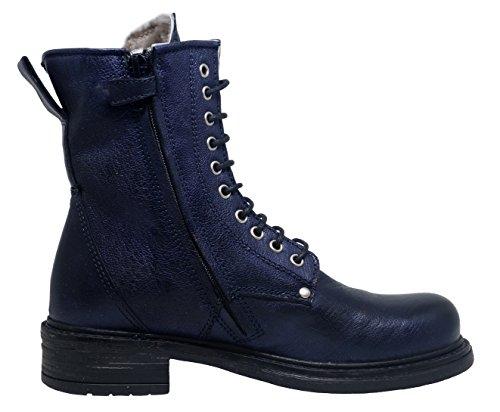 Momino 3550M Stiefel Boots Mädchen Blau (9273 savana blue)
