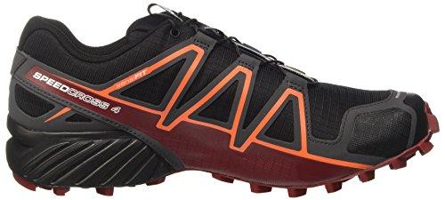Salomon Speedcross 4 CS, Scarpe da Trail Running Uomo Nero Rosso Giallo