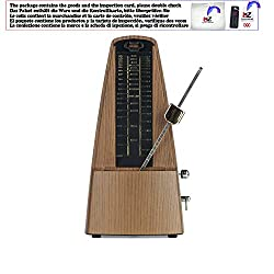Universal Metronome Mechanical Wood Light Teak Metronome Bell Ring for Piano Violin Drum Bass Guitar Accessories