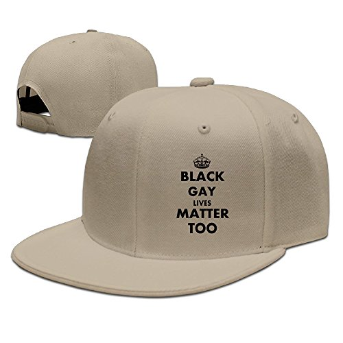 [Boss-Seller UnisexParticular Black Gay Lives Matter Too Casual Plain Edge Cap Natural] (Incredible Hulk Costume Ideas)