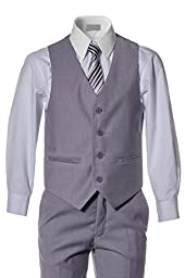 Boys Slim Fit Light Grey Suit in Toddlers to Boys Sizing (12 Boys)