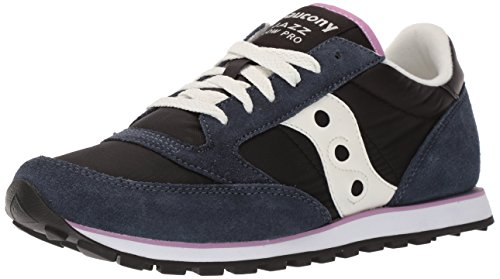 Saucony Jazz Low Pro - Saucony Originals Women's Jazz Lowpro Sneaker, Black/White, 11 Medium US