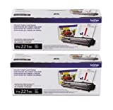 Brother TN221BK (TN-221BK) Black Toner Cartridge 2-Pack
