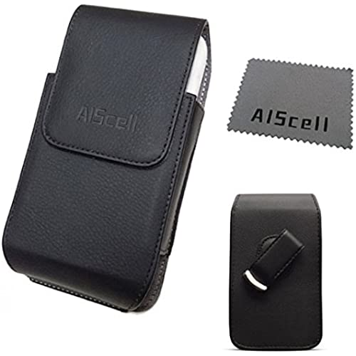 For Samsung Galaxy S7 , S6 , S5 ~ XL Large Size Vertical Leather Pouch Case Swivel Belt Clip Holster + AIScell Brand Cleaning Cloth (fits Phone+hybrid protective cover Sales