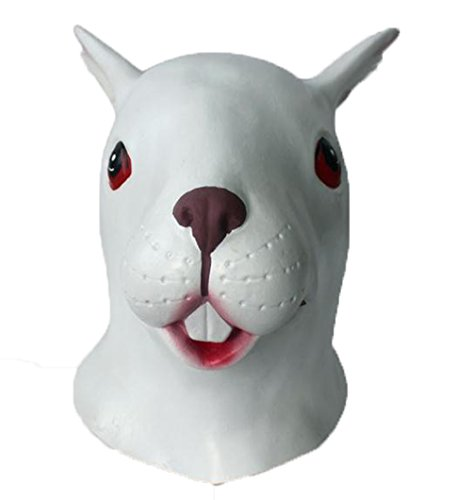 Animal Head Mask Dog Wolf Alien Rabbit Bunny Monster Kids Mask Costume Made of Latex for Humans by Magical Imaginary (rabbit)