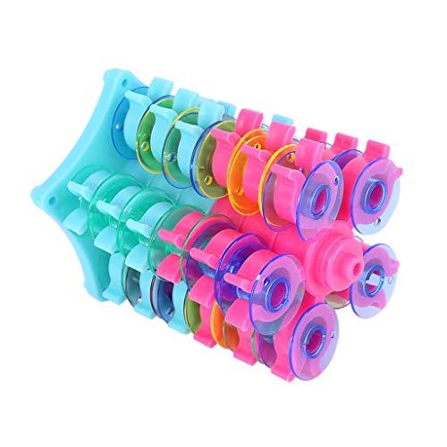 - TUU Bobbin Stand Bobbin Organizer Sewing Thread Bobbin Holder Bobbin Stack Tower Organizer Plastic Sewing Thread Spools Organizer Accessories (Multicolor)