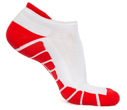 No Show Running Socks - Blister Resistant Athletic Low Cut Socks with Toes and Heel Protection Gear for Women and Men
