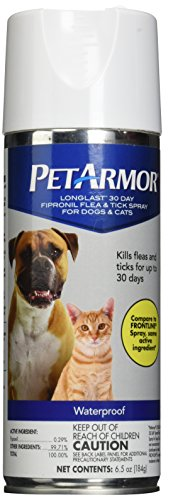 PetArmor Longlast Fipronil Flea and Tick Spray for Cats and Dogs, 6.5 oz